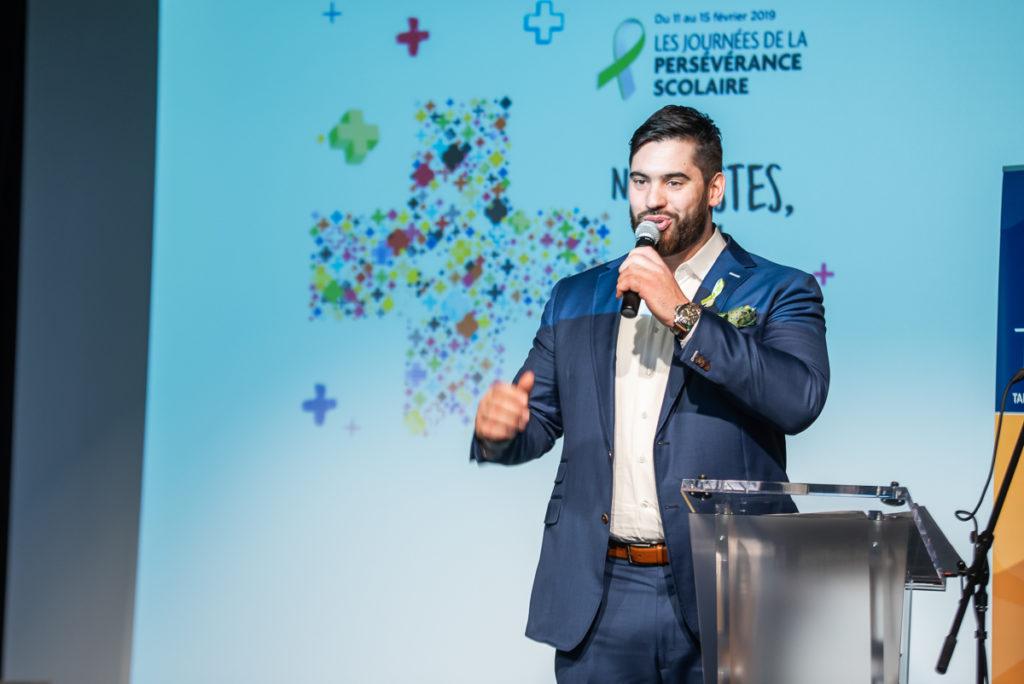 Laurent Duvernay-Tardif le porte-parole des Journées de la persévérance scolaire 2019